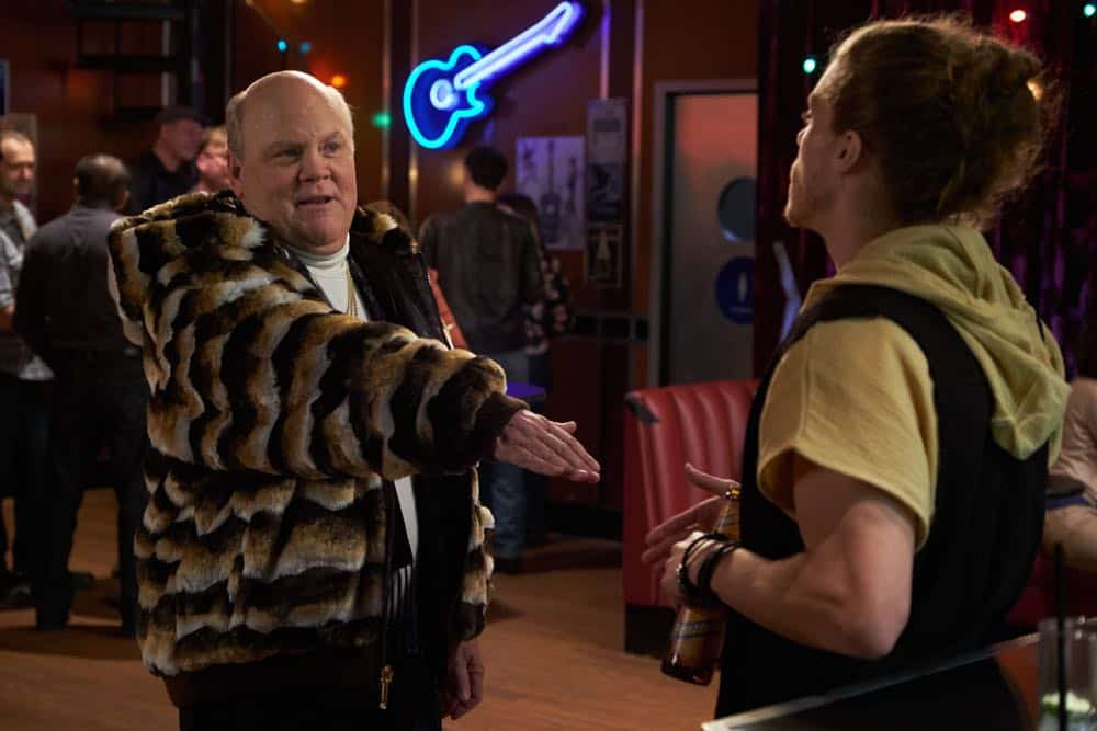 "BROOKLYN NINE-NINE: L-R: Dirk Blocker and guest star Blake Anderson in the ""Bachelor/ette Party"" episode of BROOKLYN NINE-NINE airing Sunday, April 29 (8:30-9:00 PM ET/PT) on FOX. CR: FOX"