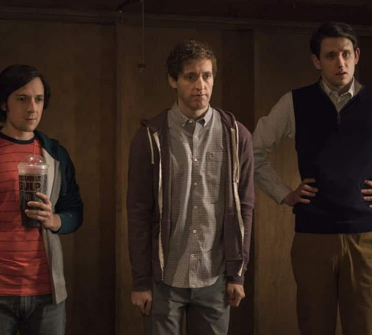 Episode 44 (season 5, episode 6), debut 4/29/18: Josh Brener, Thomas Middleditch, Zach Woods. photo: Ali Paige Goldstein/HBO
