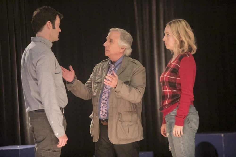 Episode 6 (debut 4/29/18): Bill Hader, Henry Winkler, Sarah Goldberg. photo: Jordin Althaus/HBO