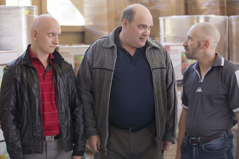 Episode 6 (debut 4/29/18): Anthony Carrigan, Glenn Fleshler, Mark Ivanir. photo: John P. Johnson/HBO