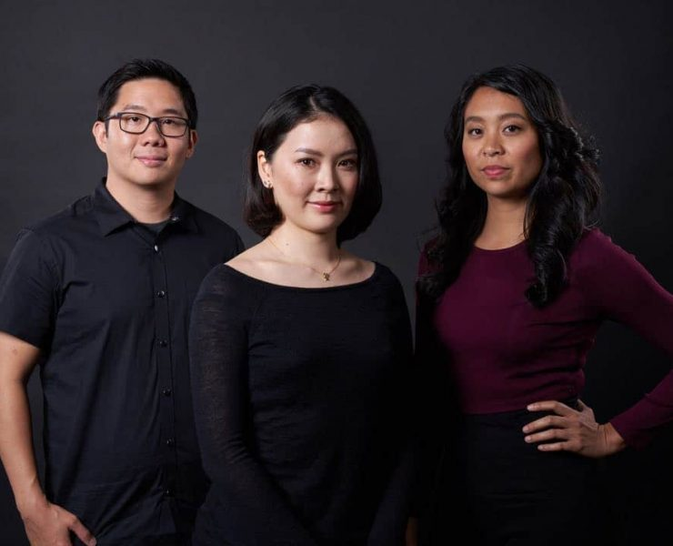 From left: HBO APA Visionaries finalists Huay-Bing Law, Feng-I Fiona Roan, and Maritte Go