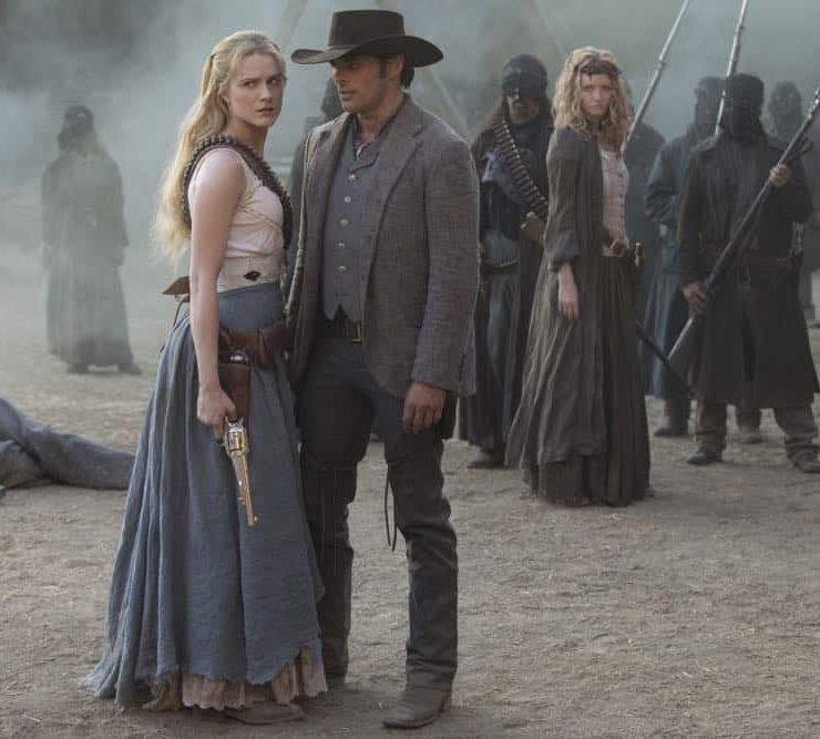 Episode 13 (season 2, episode 3), debut 5/6/18: Evan Rachel Wood, James Marsden. photo: John P. Johnson/HBO