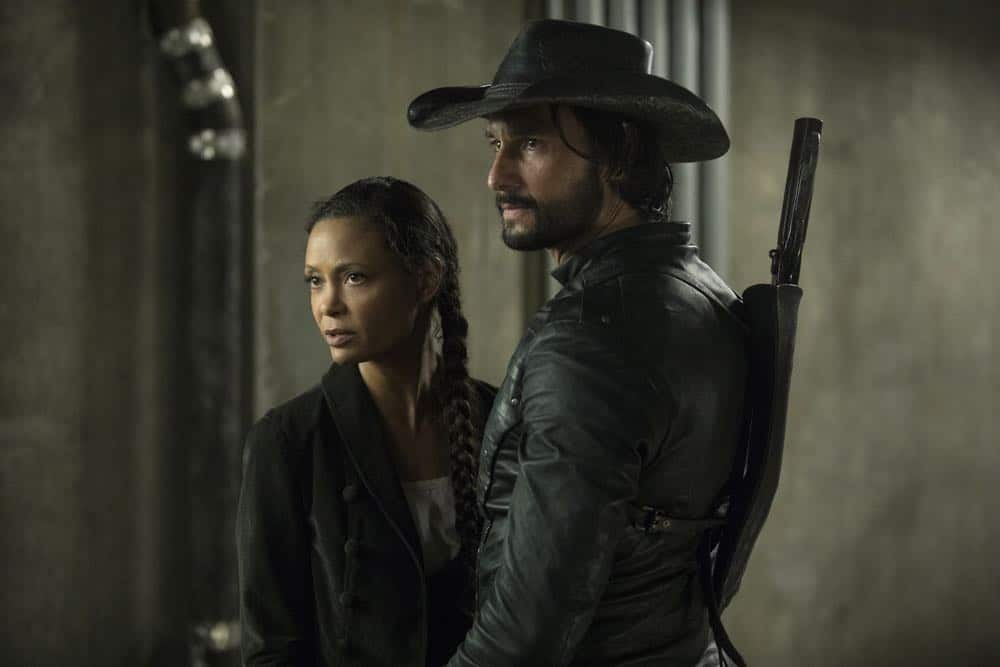 Episode 13 (season 2, episode 3), debut 5/6/18: Thandie Newton, Rodrigo Santoro. photo: John P. Johnson/HBO