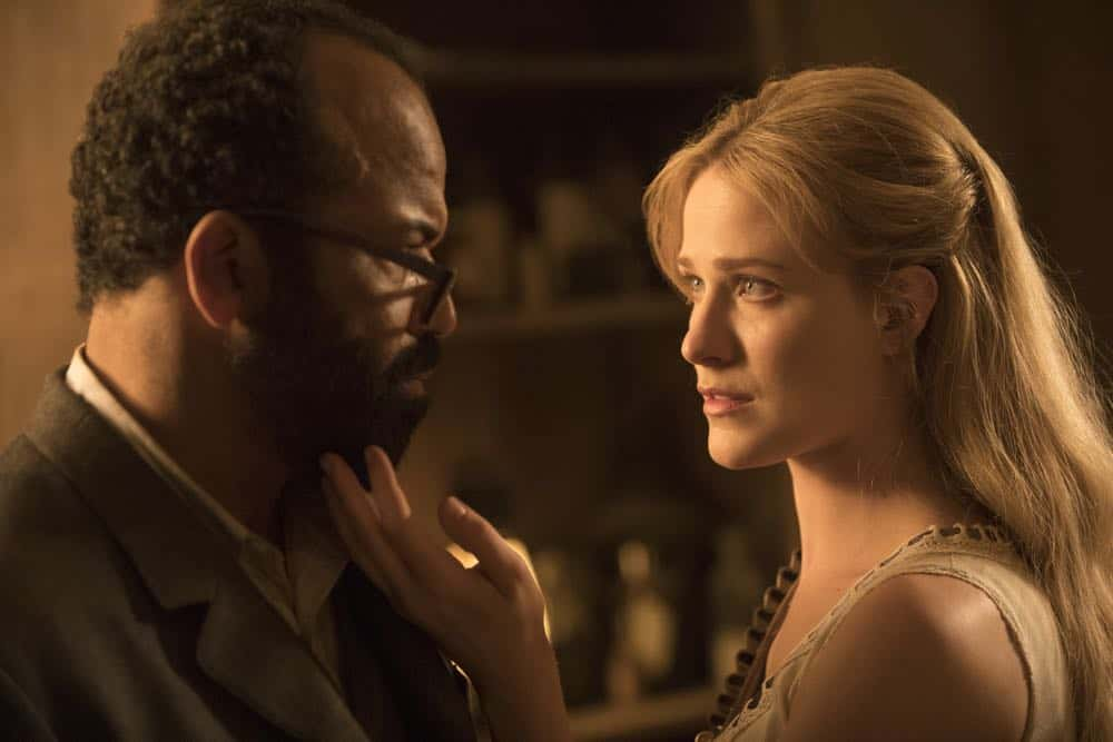 Episode 13 (season 2, episode 3), debut 5/6/18: Jeffrey Wright, Evan Rachel Wood. photo: John P. Johnson/HBO