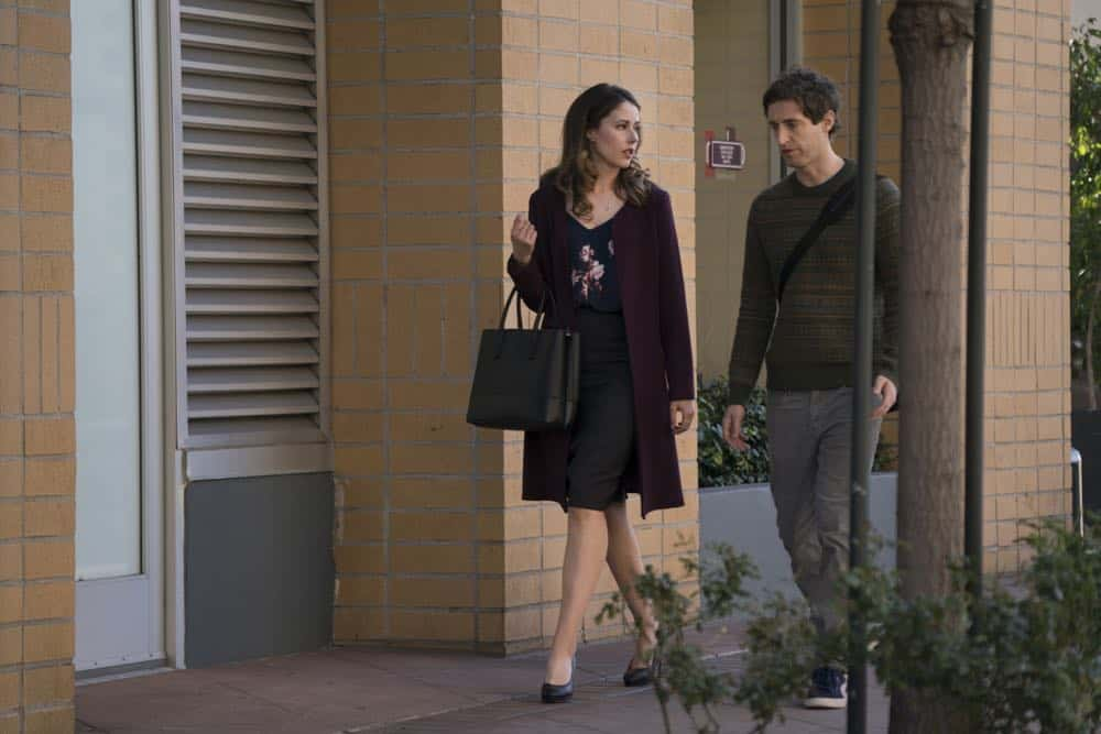 Episode 45 (season 5, episode 7), debut 5/6/18: Amanda Crew, Thomas Middleditch. photo: Ali Paige Goldstein/HBO