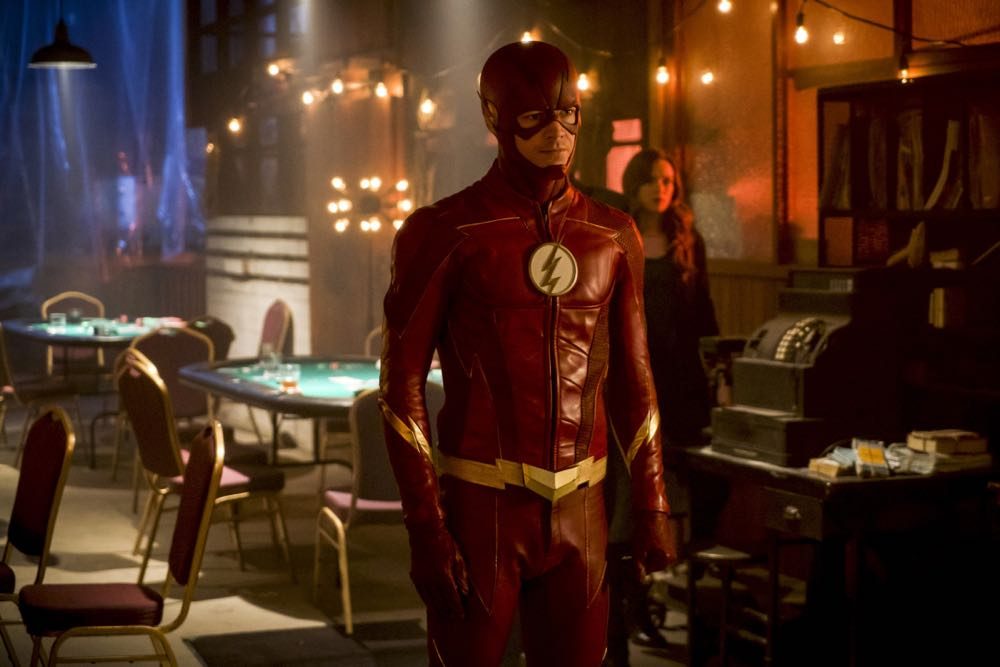 "The Flash -- ""Harry and the Harrisons"" -- Image Number: FLA421b_0502b.jpg -- Pictured: Grant Gustin as The Flash -- Photo: Shane Harvey/The CW -- © 2018 The CW Network, LLC. All rights reserved"