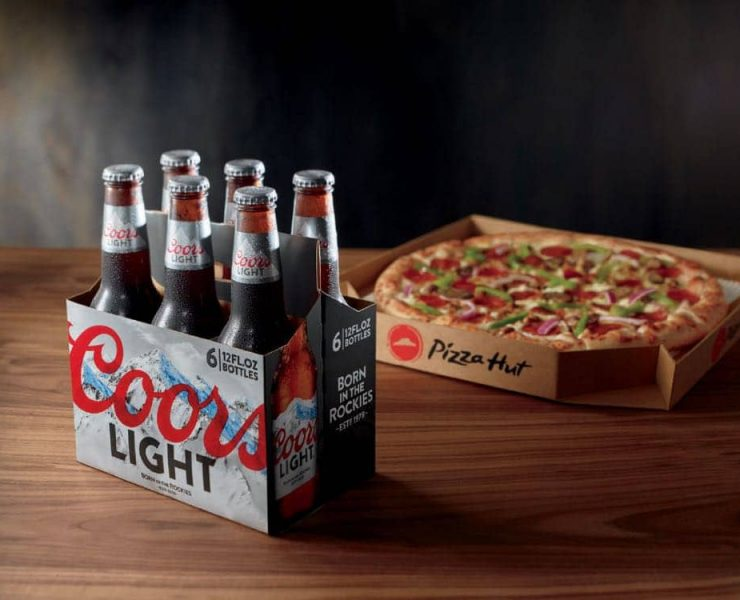 Pizza Hut announced today the expansion of its beer delivery pilot program to nearly 100 stores across Arizona and California. Free beer delivery will be available in participating Arizona markets, with the purchase of select MillerCoors six-packs of beer.