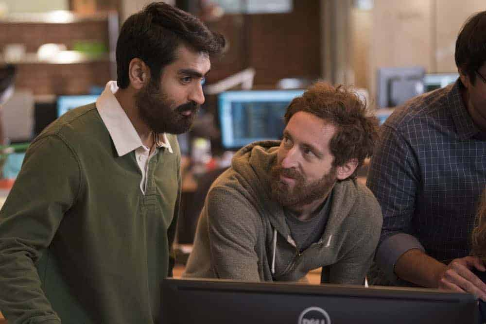 Episode 46 (season 5, episode 8), debut 5/13/18: Kumail Nanjiani, Thomas Middleditch. photo: Ali Paige Goldstein/HBO