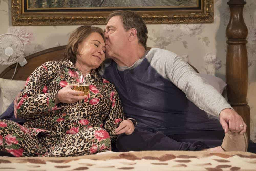 "ROSEANNE - ""Knee Deep"" - Roseanne's knee gets worse so Dan is forced to a make an important work decision; but when a major storm hits Lanford, their fortunes change for the better. Later, Darlene realizes she has to go back to her first passion . writing, on the ninth episode and season finale of the revival of ""Roseanne,"" TUESDAY, MAY 22 (8:00-8:30 p.m. EDT), on The ABC Television Network. (ABC/Adam Rose)"