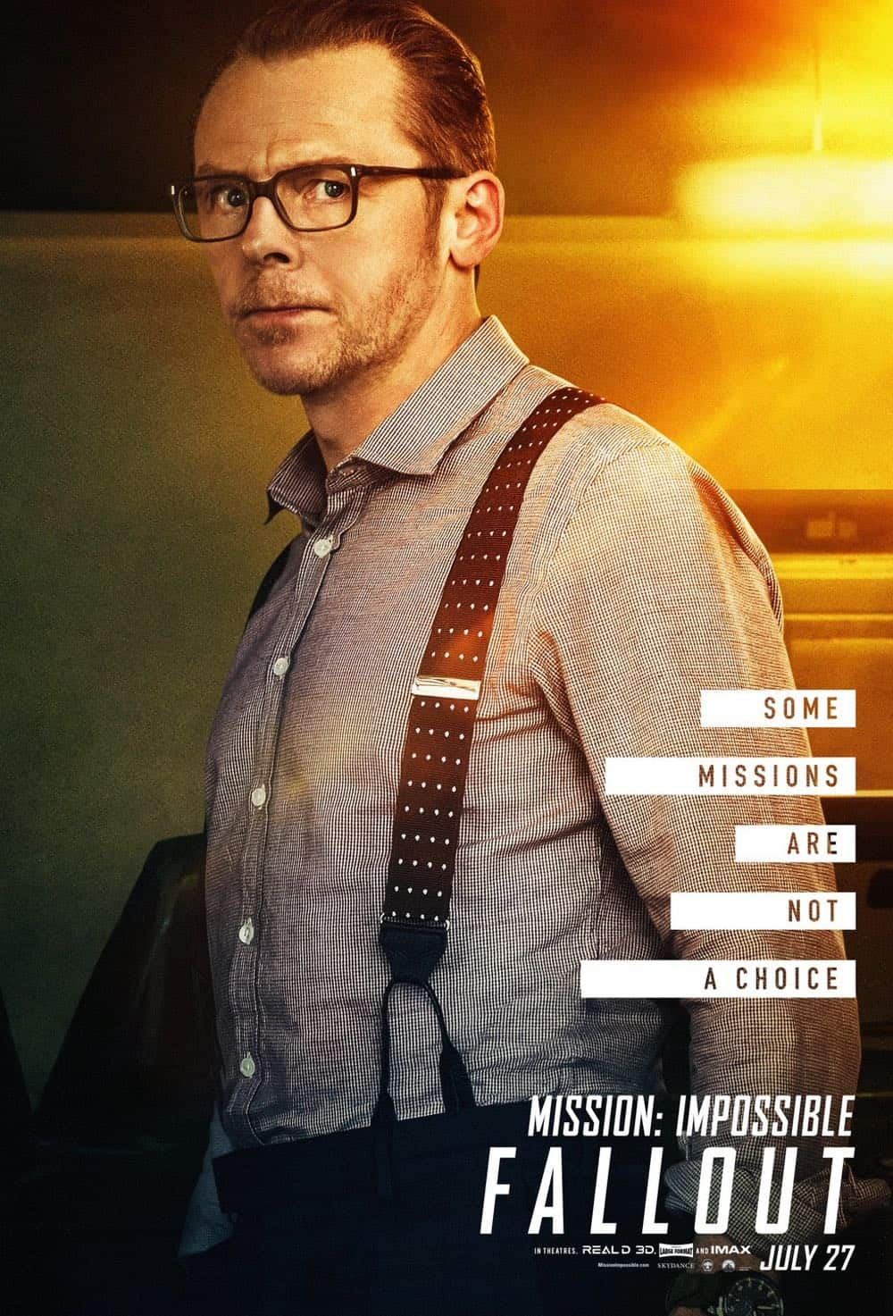 Mission Impossible Fallout Character Movie Poster Simon Pegg