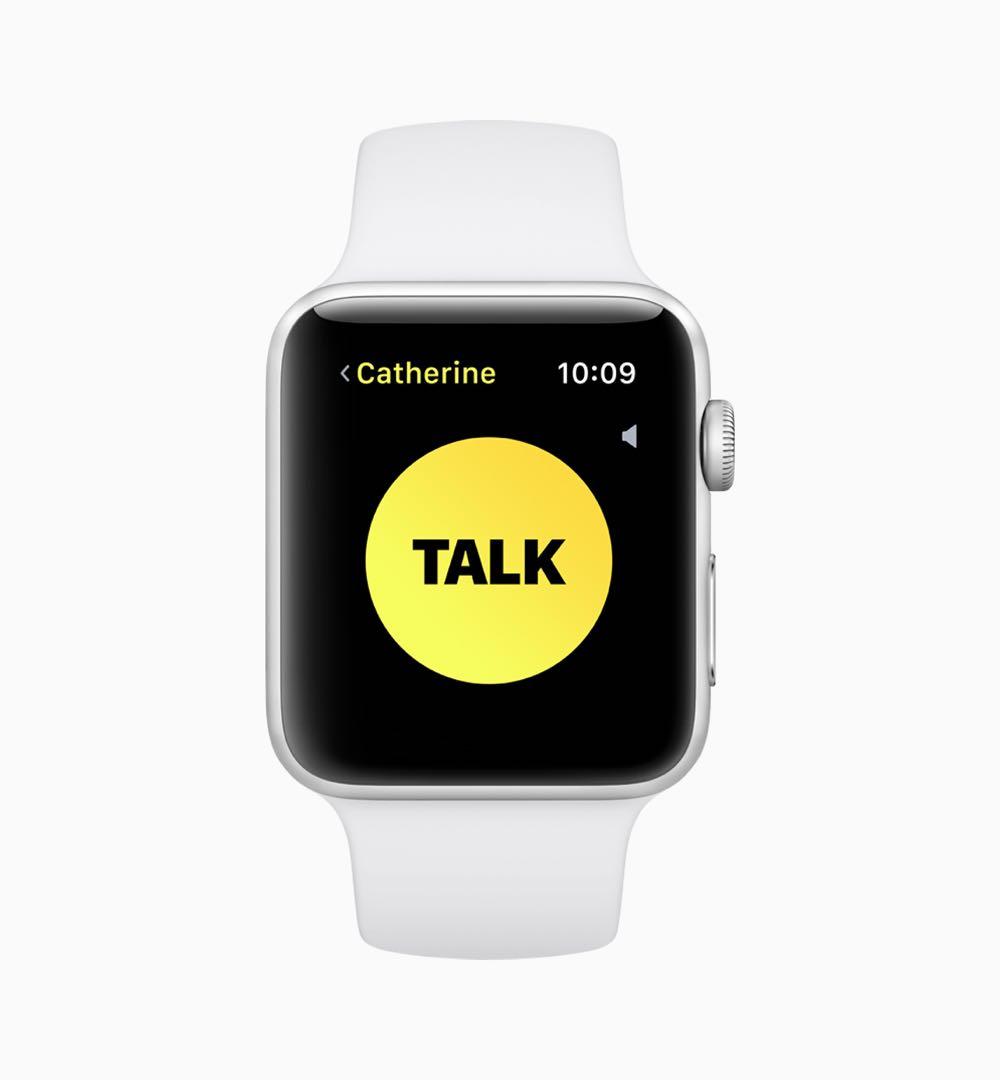 Apple watchOS 5 Walkie Talkie screen 06042018