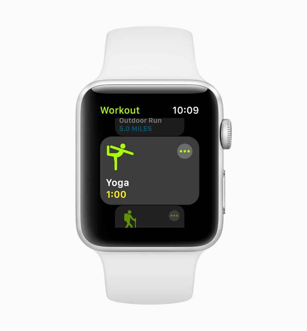 Apple watchOS 5 Yoga screen 06042018
