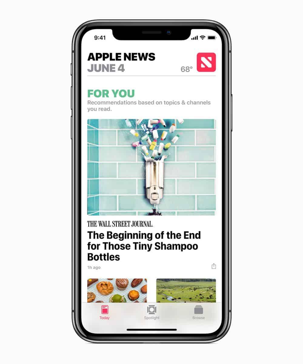 iOS12 Apple News 06042018