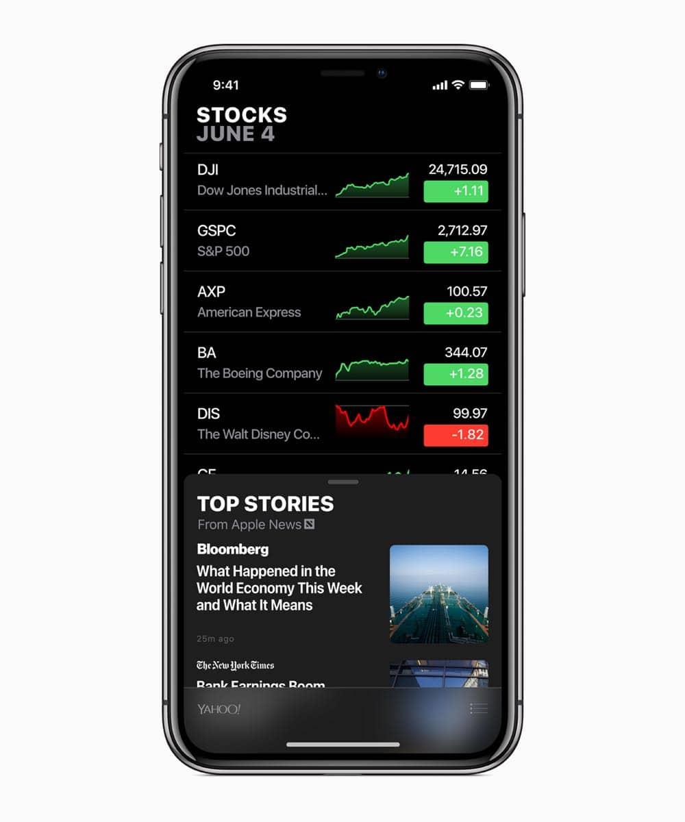 iOS12 Apple Stocks 06042018