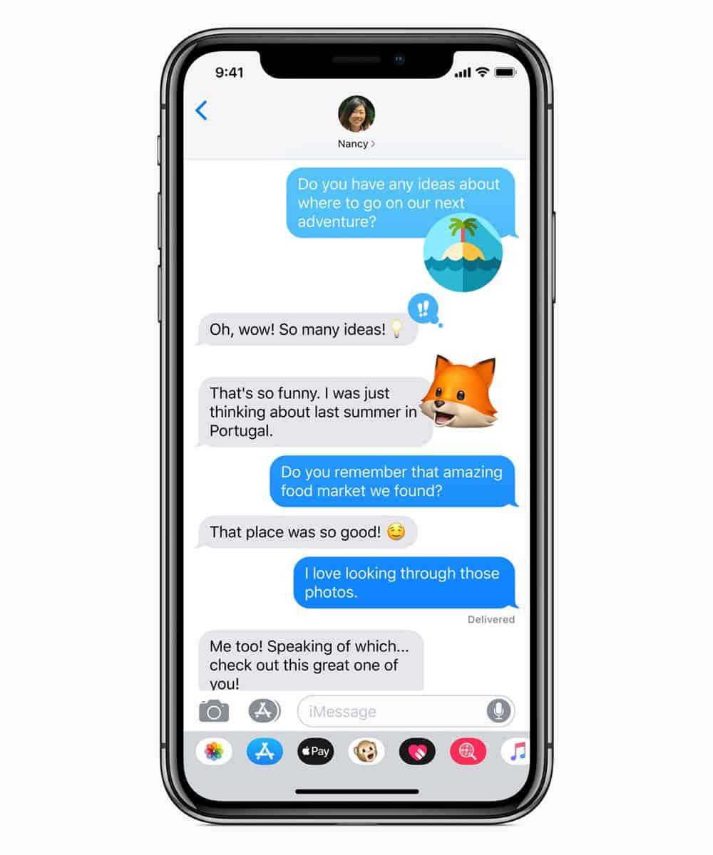 iOS12 Memoji chat 06042018