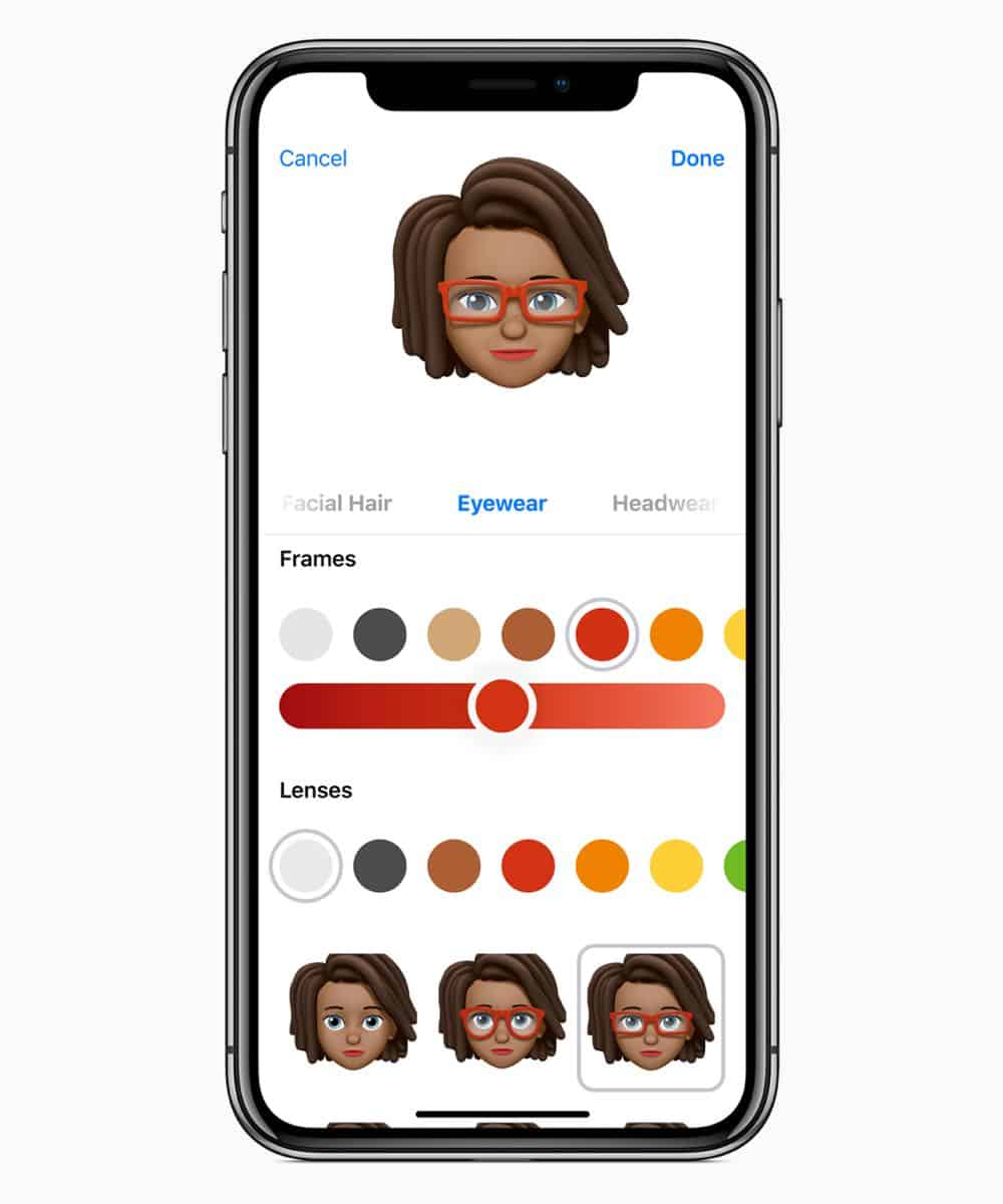 iOS12 Memoji customize 06042018