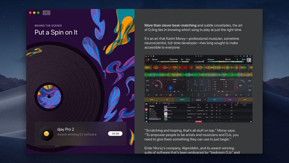 macOS Mac App Store Editorial screen 06042018