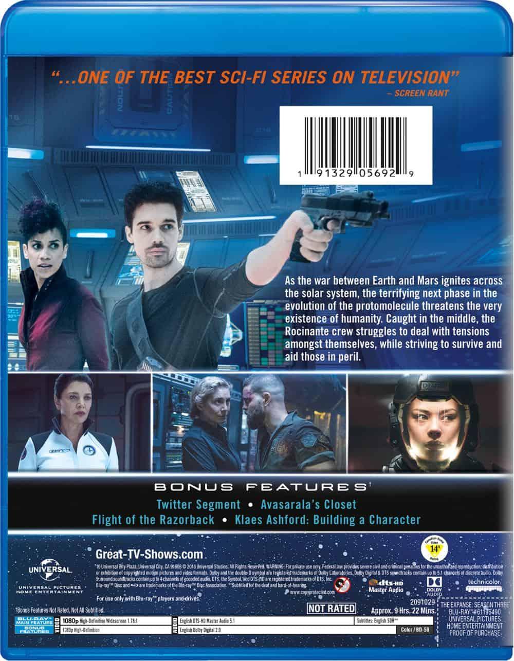 The Expanse Season 3 Bluray Cover