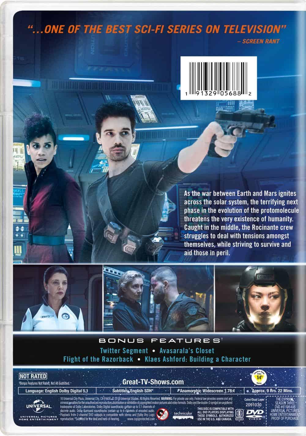 The Expanse Season 3 DVD Cover Back