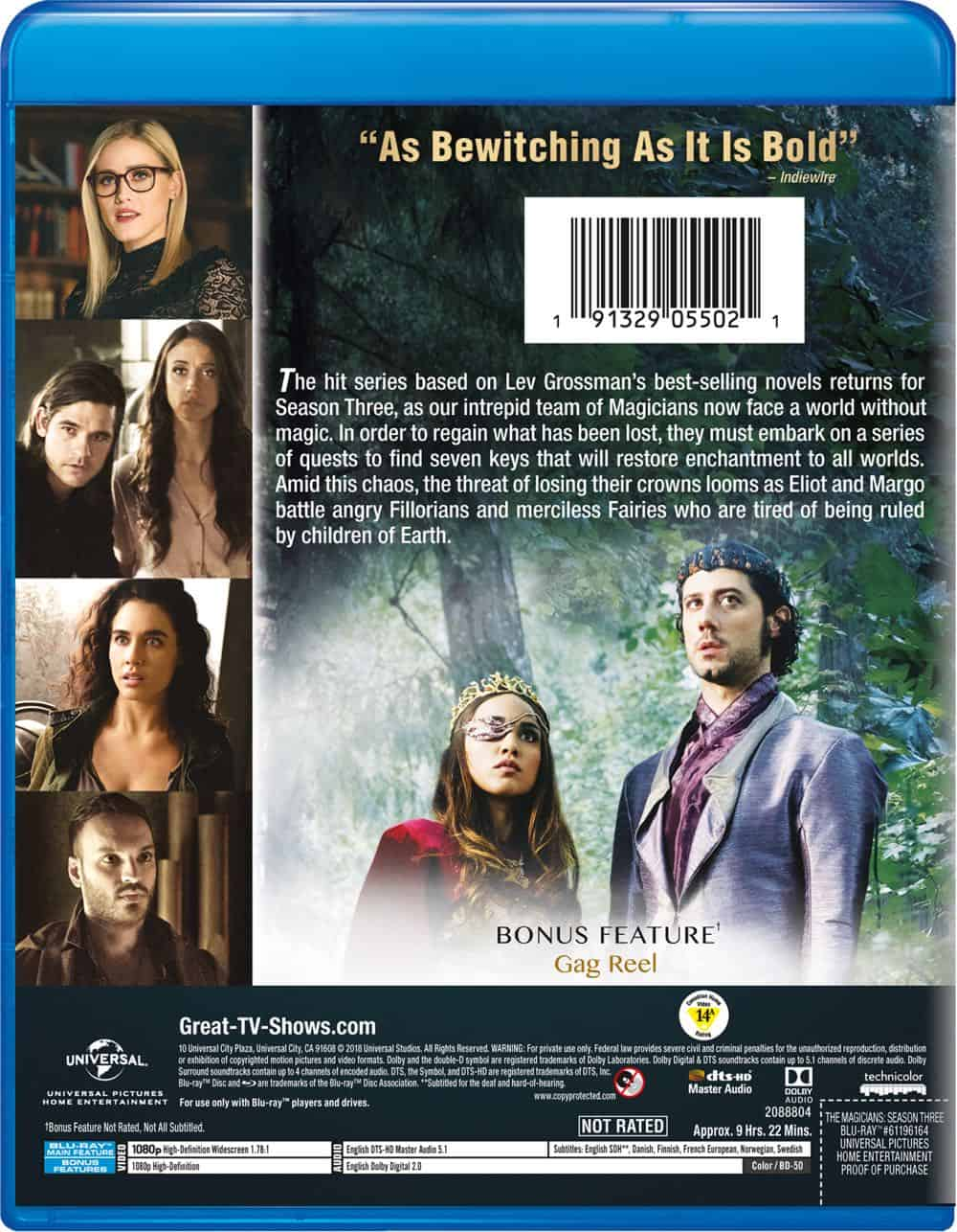 The Magicians Season 3 Bluray Back Cover