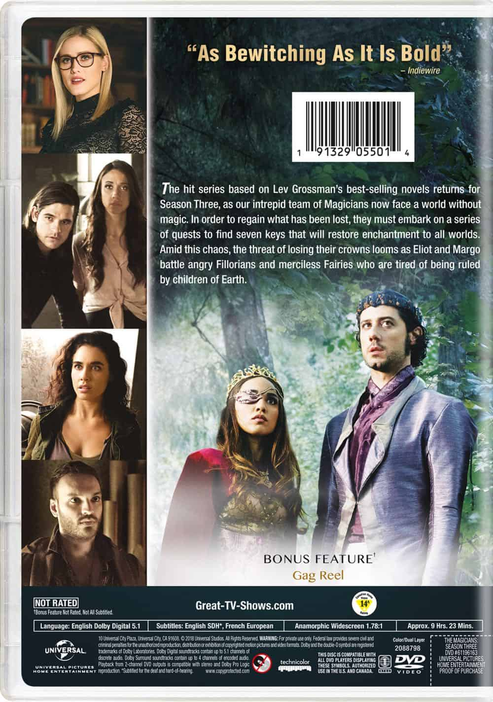 The Magicians Season 3 DVD Back Cover