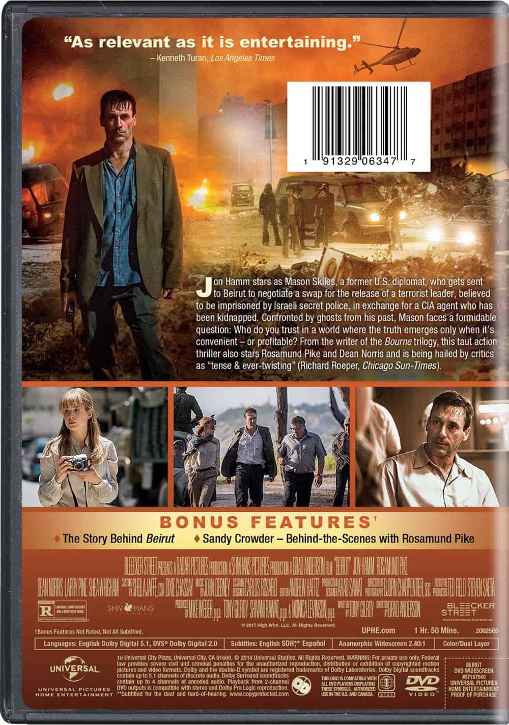 Beirut DVD Back Cover