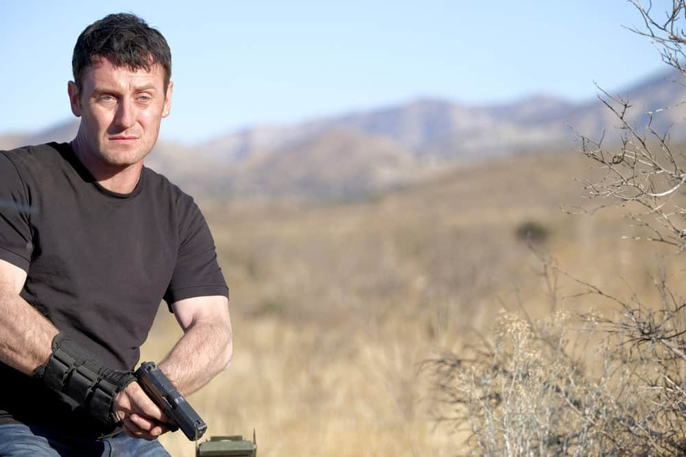 "SHOOTER -- ""Backroads"" Episode 301 -- Pictured: Josh Stewart as Solotov -- (Photo by: Adam Rose/USA Network)"