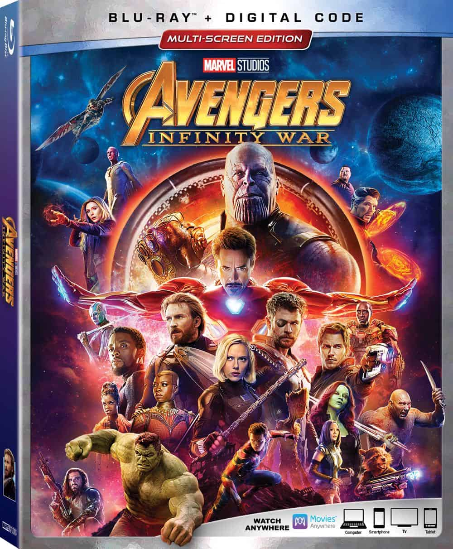 Avengers Infinity War Blu ray Box Art