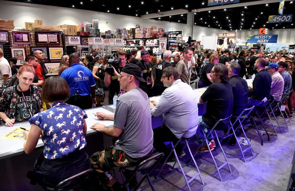 FOX FANFARE AT SAN DIEGO COMIC-CON © 2018: Cast Members during the BOB'S BURGERS booth signing on Friday, July 20 at the FOX FANFARE AT SAN DIEGO COMIC-CON © 2018. CR: Frank Micelotta/FOX © 2018 FOX BROADCASTING