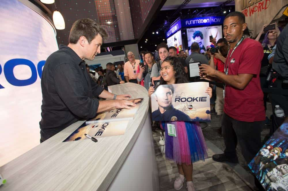 Nathan Fillion THE ROOKIE Comic Con 2018 13