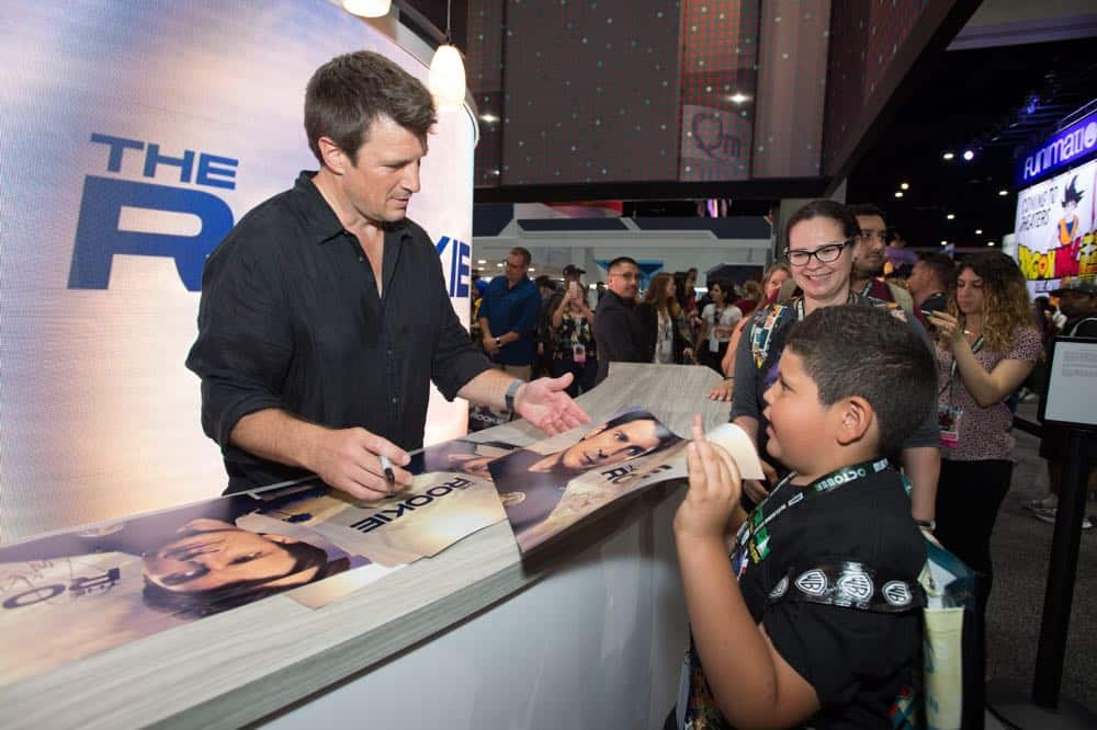 Nathan Fillion THE ROOKIE Comic Con 2018 14