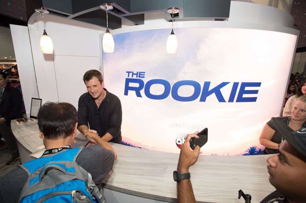 Nathan Fillion THE ROOKIE Comic Con 2018 12