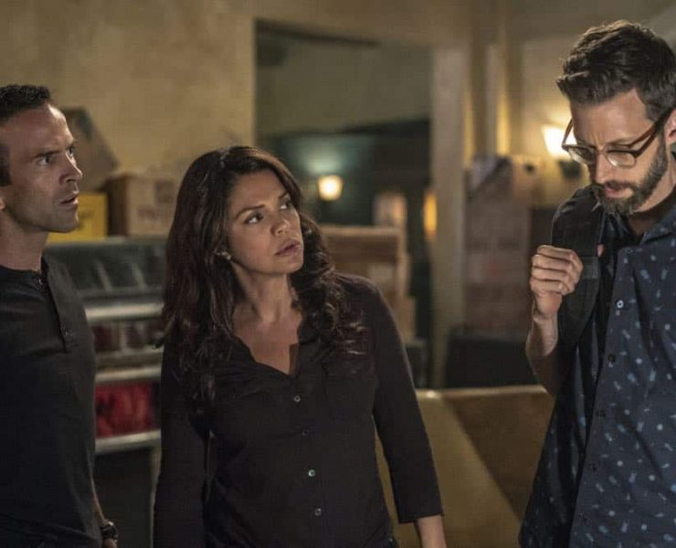 """See You Soon"" -- While Pride fights for his life in the ICU, the team scours the city for the hit woman who attempted to assassinate him, on the fifth season premiere of NCIS: NEW ORLEANS, Tuesday, Sept. 25 (10:00-11:00 PM, ET/PT) on the CBS Television Network. Pictured L-R: Lucas Black as Special Agent Christopher LaSalle, Vanessa Ferlito as FBI Special Agent Tammy Gregorio, and Rob Kerkovich as Forensic Scientist Sebastian Lund Photo: Skip Bolen/CBS ©2018 CBS Broadcasting, Inc. All Rights Reserved"