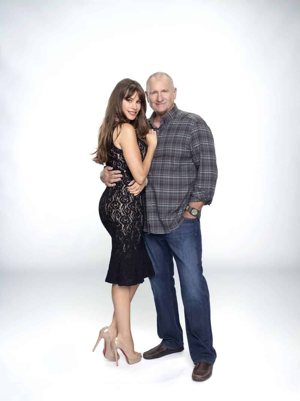 "MODERN FAMILY - ABC's ""Modern Family"" stars Sofia Vergara as Gloria Delgado-Pritchett, and Ed O'Neill as Jay Pritchett. (ABC/Robert Ashcroft)"