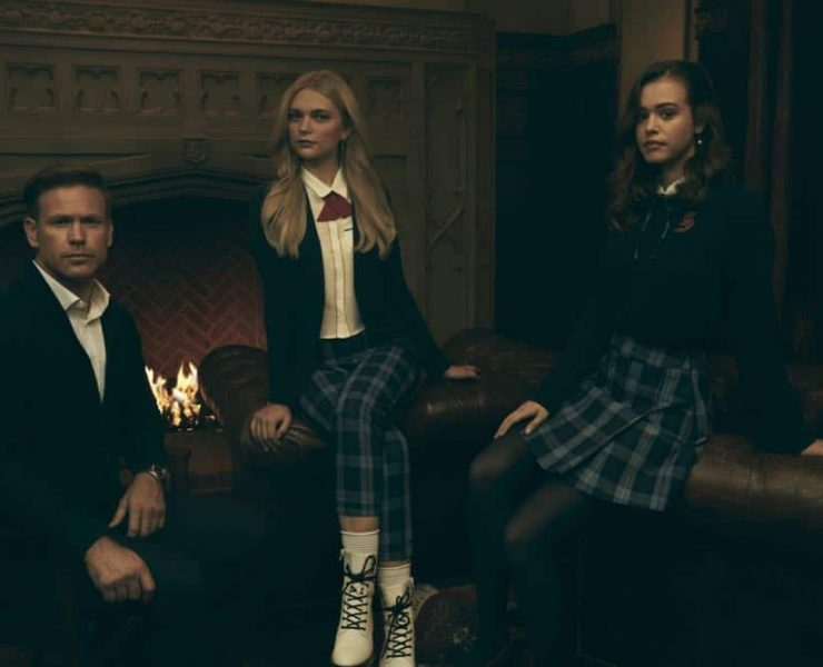 Legacies -- Image Number: LGC1_GROUP_1_0014r.jpg -- Pictured (L-R): Matthew Davis as Alaric, Jenny Boyd as Lizzie, and Kaylee Bryant as Josie -- Photo: Miller Mobley/The CW -- © 2018 The CW Network, LLC. All Rights Reserved.