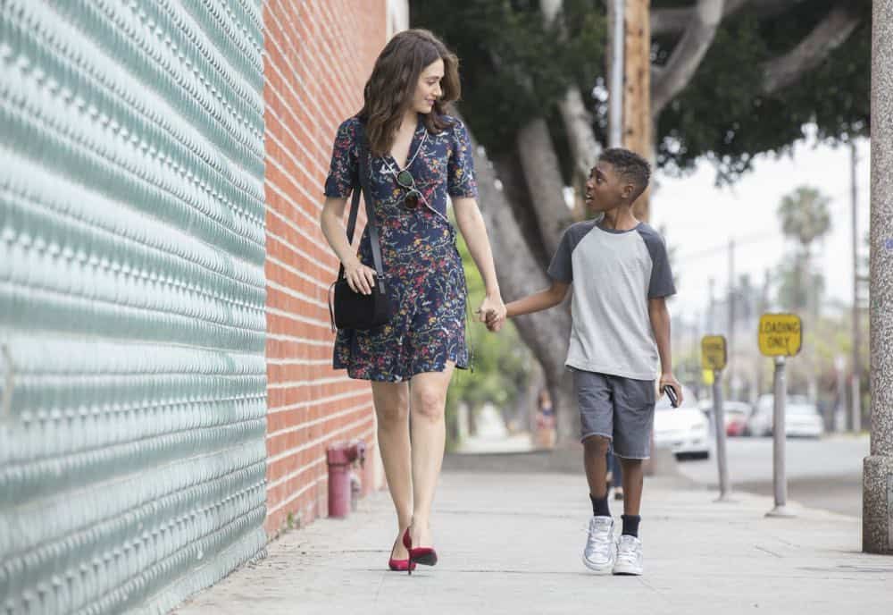 "Emmy Rossum as Fiona Gallagher and Christian Isaiah as Liam Gallagher in SHAMELESS (Season 9, Episode 02, ""Mo White for President""). - Photo: Paul Sarkis/SHOWTIME - Photo ID: SHAMELESS_902_1086"