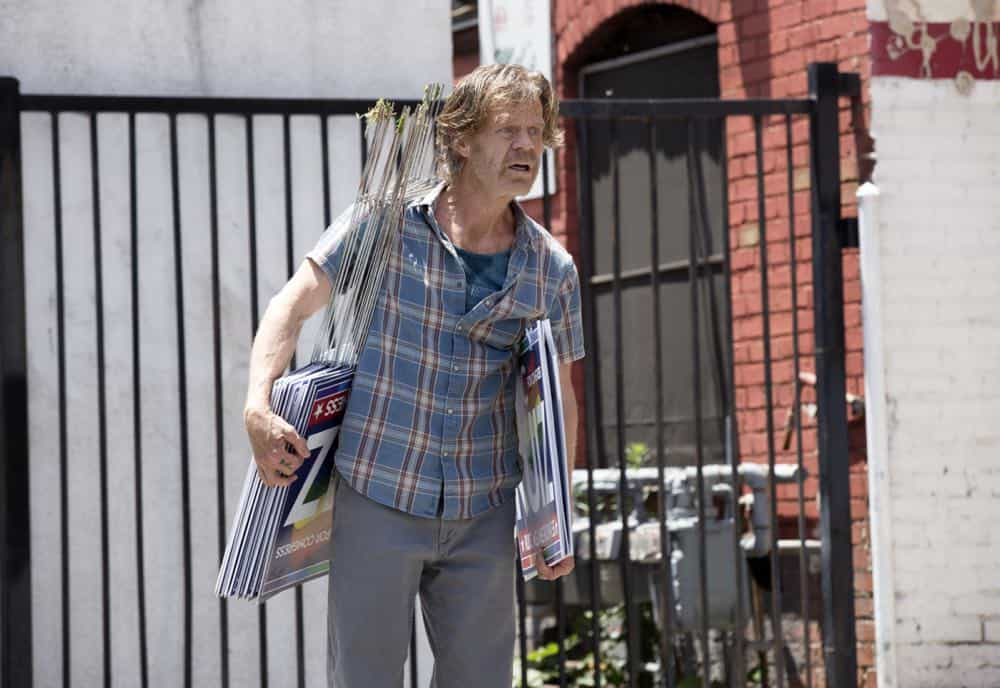 "William H. Macy as Frank Gallagher in SHAMELESS (Season 9, Episode 02, ""Mo White for President""). - Photo: Paul Sarkis/SHOWTIME - Photo ID: SHAMELESS_902_1230"