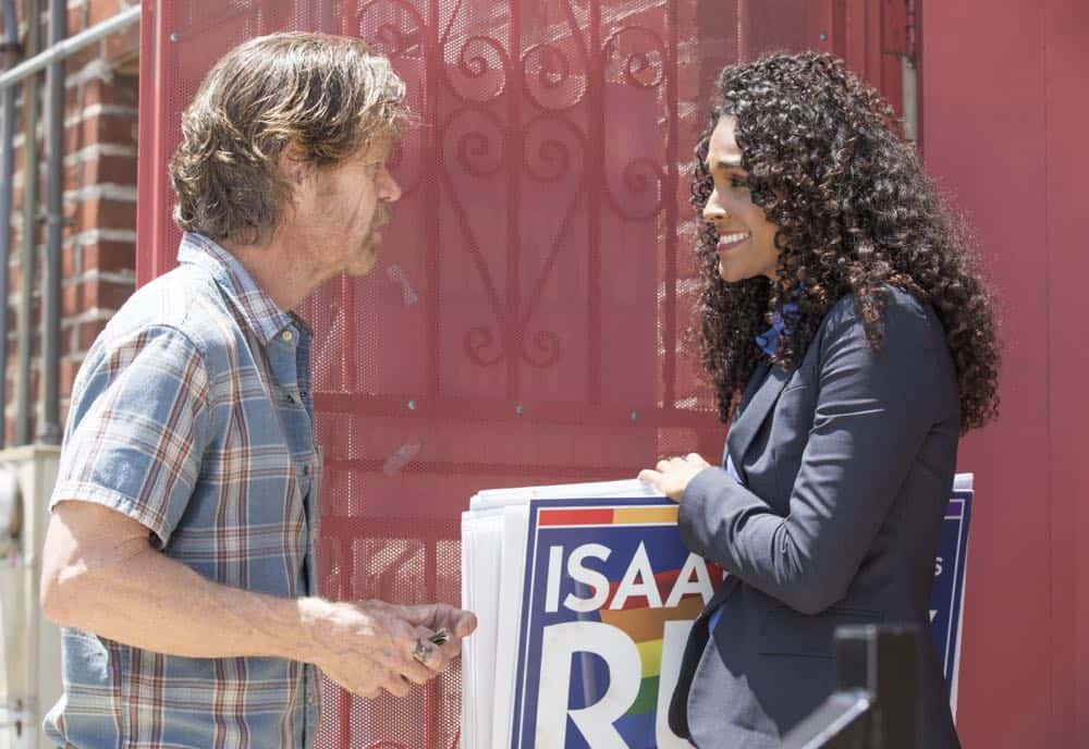 "William H. Macy as Frank Gallagher in SHAMELESS (Season 9, Episode 02, ""Mo White for President""). - Photo: Paul Sarkis/SHOWTIME - Photo ID: SHAMELESS_902_1271"