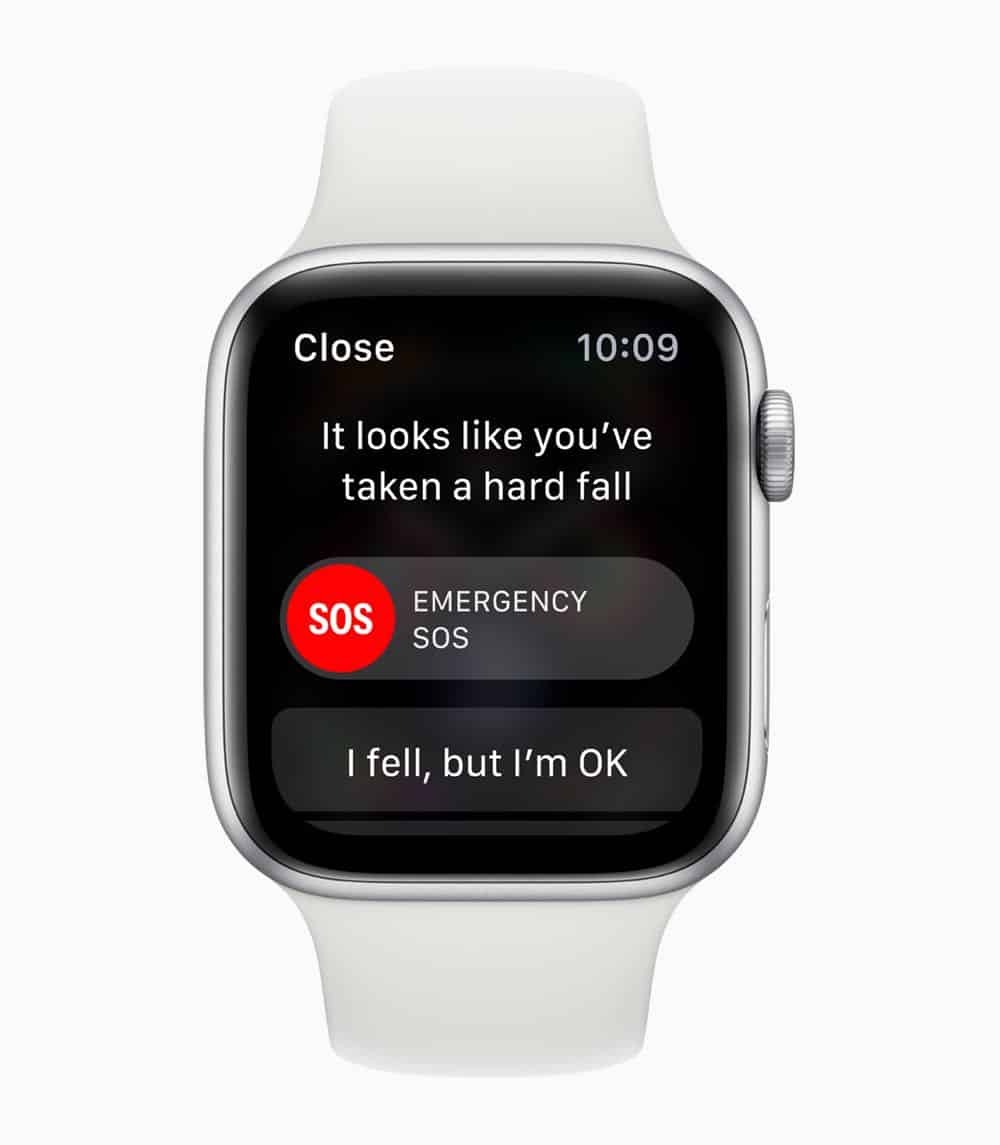 Apple Watch Series4 SOS emergency services 09122018