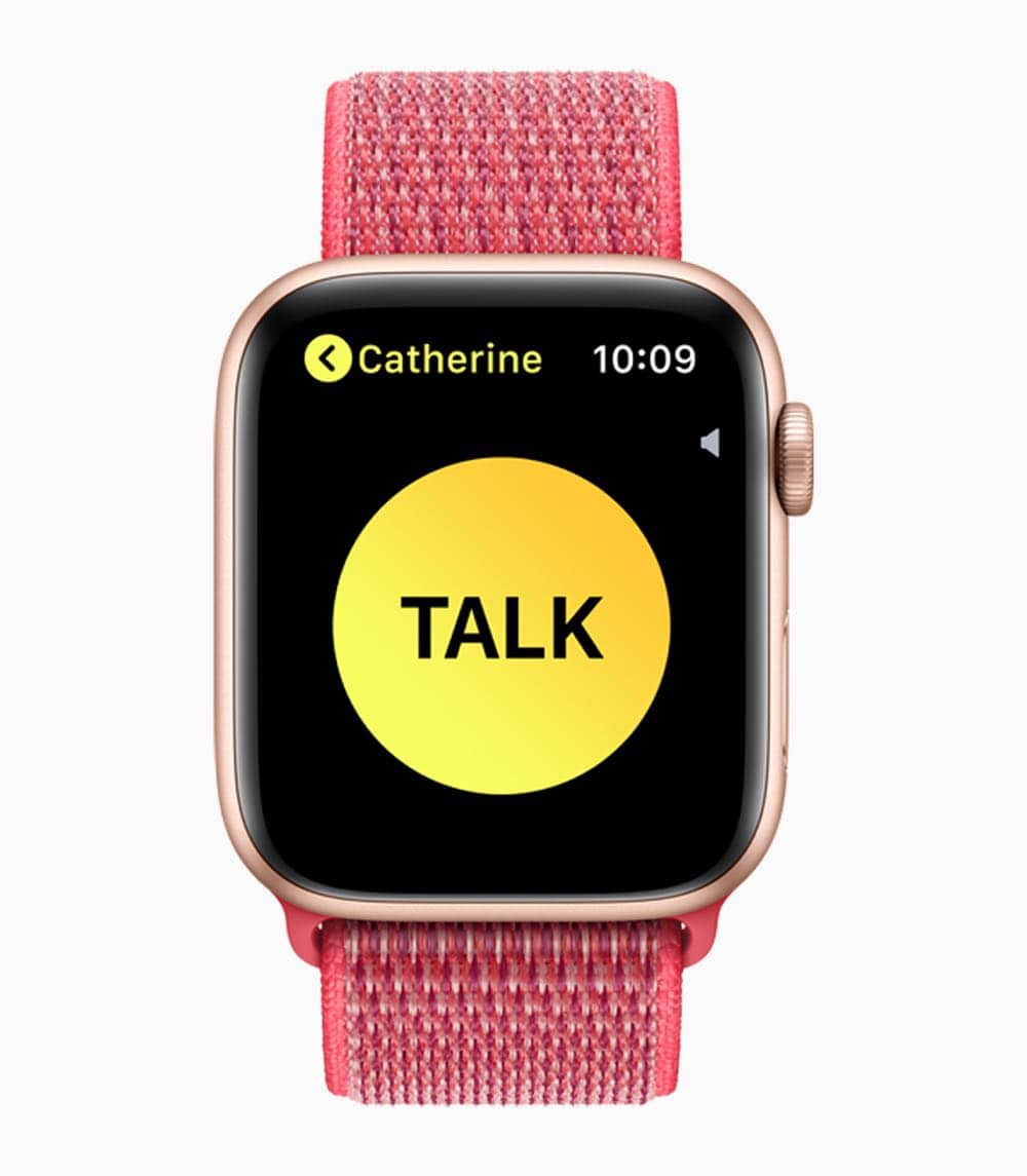 Apple Watch Series4 Walkie Talkie 09122018
