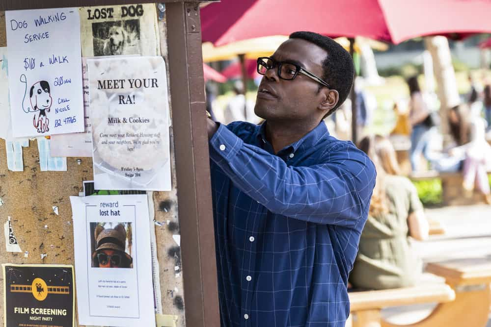 """THE GOOD PLACE -- """"Everything is Bronzer! Pt. 2"""" Episode 302 -- Pictured: William Jackson Harper as Chidi -- (Photo by: Justin Lubin/NBC)"""