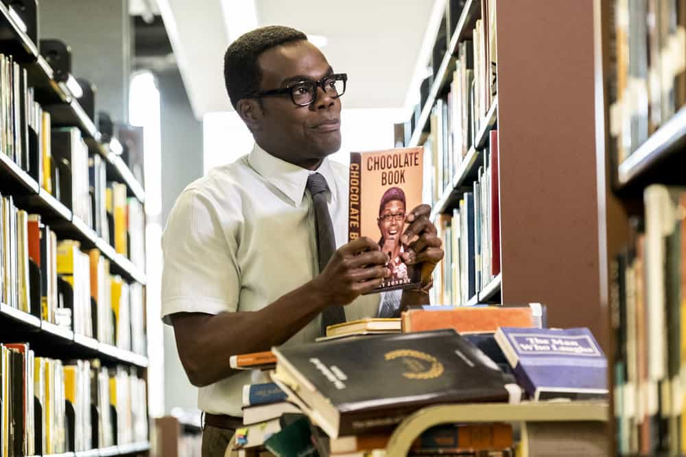 """THE GOOD PLACE -- """"Everything is Bronzer! Pt. 1"""" Episode 301 -- Pictured: William Jackson Harper as Chidi -- (Photo by: Justin Lubin/NBC)"""