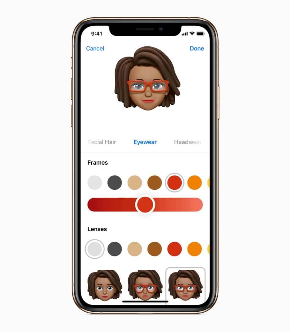 iOS12 iPhoneXs Gold MeMojiCustomization 09172018