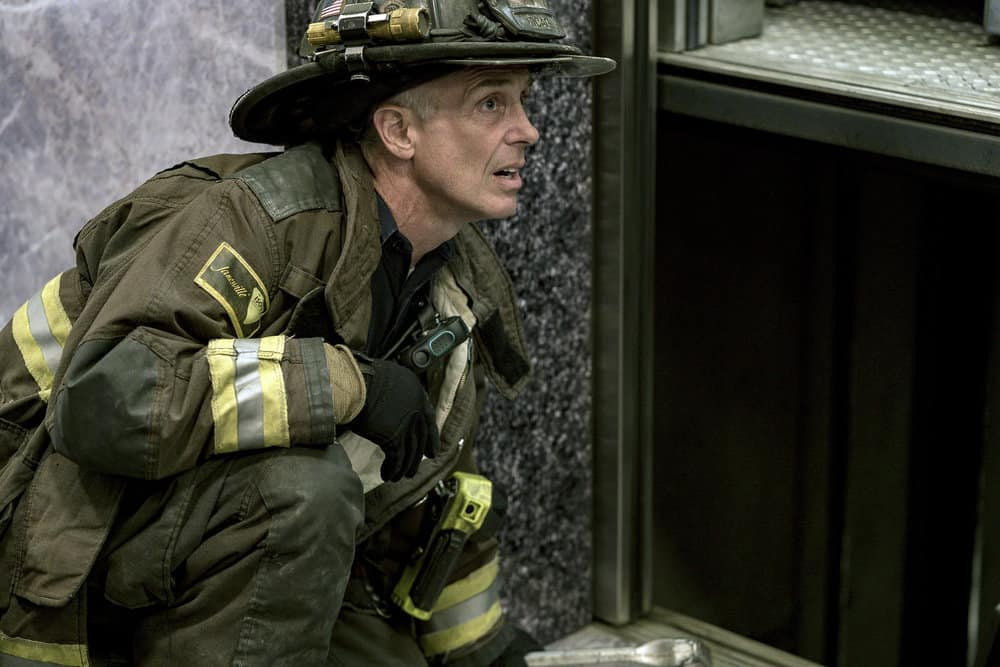 "CHICAGO FIRE -- ""A Closer Eye"" Episode 701 -- Pictured: David Eigenberg as Christopher Herrmann -- (Photo by: Matt Dinerstein/NBC)"