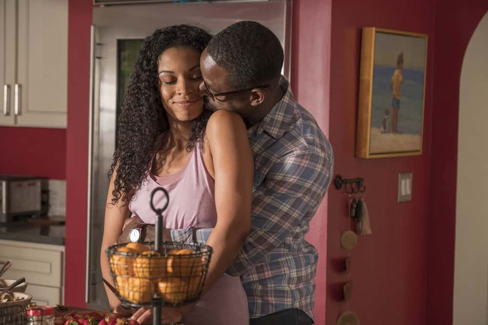 "THIS IS US -- ""Ave Maria"" Episode 301 -- Pictured: (l-r) Susan Kelechi Watson as Beth, Sterling K. Brown as Randall -- (Photo by: Ron Batzdorff/NBC)"