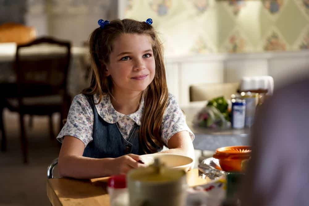 """A High-Pitched Buzz and Training Wheels"" - Pictured: Missy (Raegan Revord). After Sheldon dismantles the refrigerator to stop an annoying hum, he gets a paper route to pay for the repairs, on the second season premiere of YOUNG SHELDON, on a special night, Monday, Sept. 24 (8:31-9:01 PM, ET/PT) on the CBS Television Network. Photo: Sonja Flemming/CBS ©2018 CBS Broadcasting, Inc. All Rights Reserved"