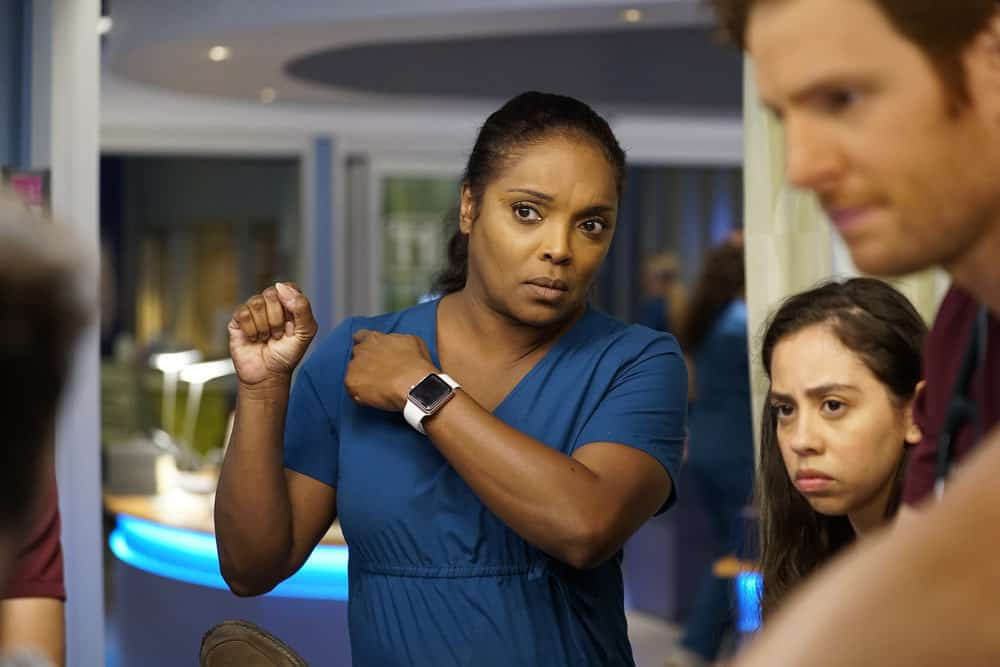 """CHICAGO MED -- """"Be My Better Half"""" Episode 401 -- Pictured: Marlyne Barrett as Maggie Lockwood -- (Photo by: Elizabeth Sisson/NBC)"""