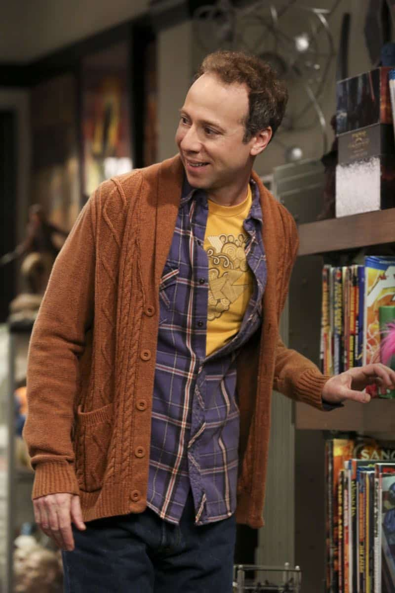 """The Wedding Gift Wormhole"" -- Pictured: Stuart (Kevin Sussman). Sheldon and Amy drive themselves crazy trying to figure out what ""perfect gift"" Leonard and Penny gave them for their wedding. Also, Koothrappali decides he wants to settle down and asks his father to arrange a marriage for him, on THE BIG BANG THEORY, when it moves to its regular time slot, Thursday, Sept. 27 (8:00-8:31 PM, ET/PT) on the CBS Television Network. Photo: Michael Yarish/CBS ©2018 CBS Broadcasting, Inc. All Rights Reserved."