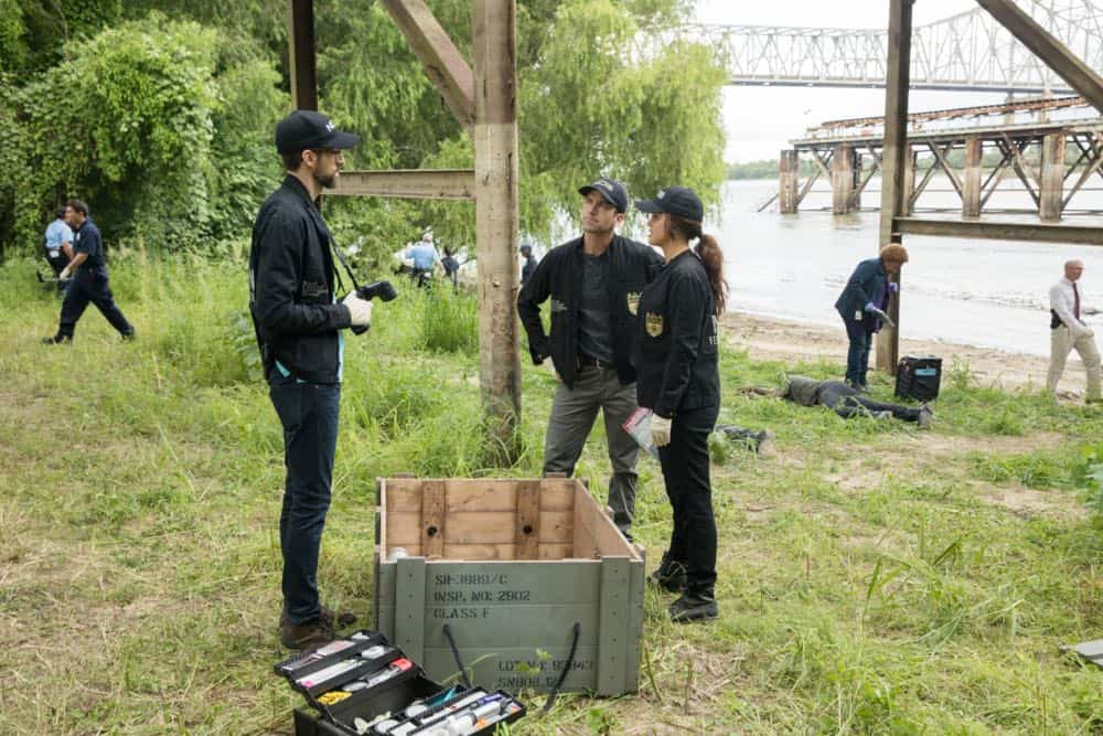 """Inside Out"" -- As the team searches for a former IRA bomb-maker who was smuggled into the city, they are joined by Special Agent Hannah Khoury (Necar Zadegan), Pride's replacement during his medical leave. Also, Pride considers a new position with the agency, on NCIS: NEW ORLEANS, Tuesday, Oct. 2 (10:00-11:00 PM, ET/PT) on the CBS Television Network. Pictured L-R: Rob Kerkovich as Forensic Scientist Sebastian Lund, Lucas Black as Special Agent Christopher LaSalle, Vanessa Ferlito as FBI Special Agent Tammy Gregorio, and CCH Pounder as Dr. Loretta Wade Photo: Sam Lothridge/CBS ©2018 CBS Broadcasting, Inc. All Rights Reserved"