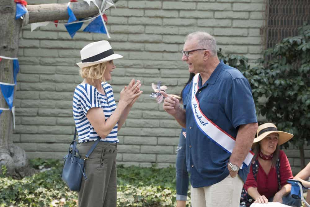 "MODERN FAMILY - ""I Love a Parade"" - The Pritchett-Dunphy-Tucker clan are going to be setting off more than a few fireworks when they get together at the annual Fourth of July parade where Jay will be acting as the grand marshal. Meanwhile, Haley's goodbye with Arvin before his trip to Switzerland doesn't go as well as she pictured it and is distracted by the return of an old flame during the 10th season premiere, on ""Modern Family,"" WEDNESDAY, SEPT. 26 (9:00-9:31 p.m. EDT), on The ABC Television Network. (ABC/Kelsey McNeal) JULIE BOWEN, ED O'NEILL"